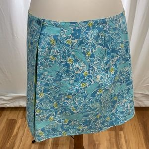 Lilly Pulitzer White Tag Reversible Wrap Skirt